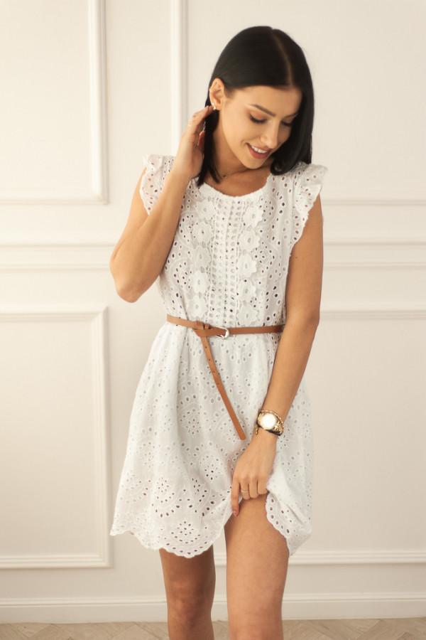 Ażurowa biała sukienka Clara