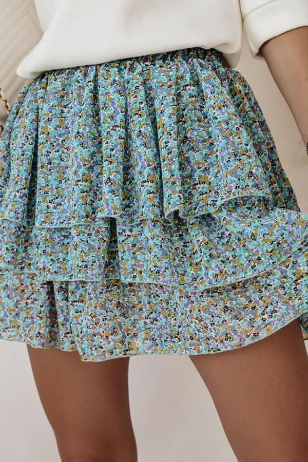 Spódniczka niebieska w kwiatki Sandra
