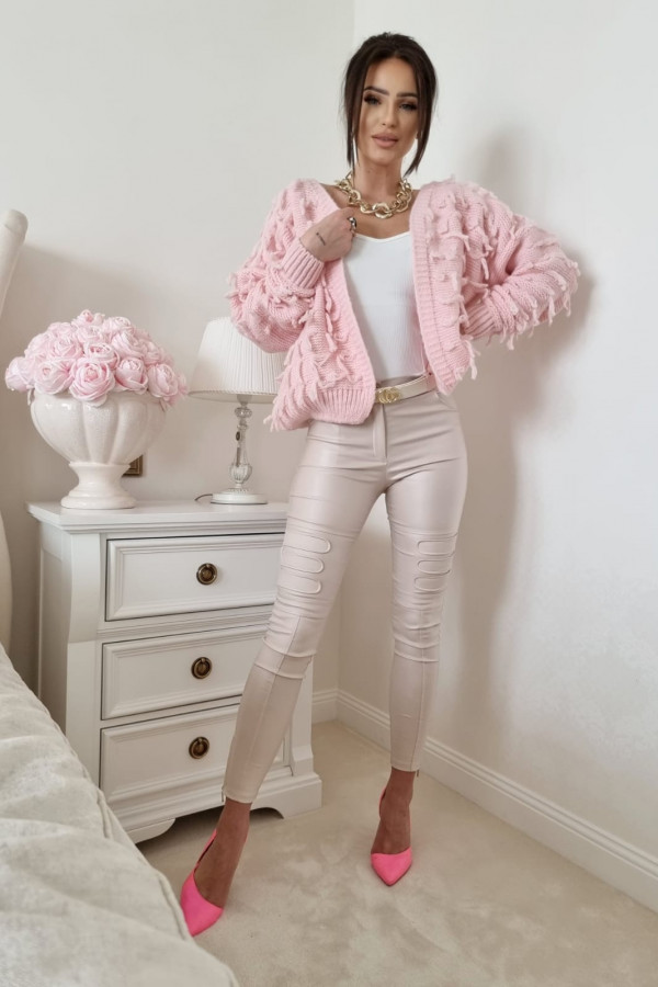 Sweterek pudrowy róż Adrie