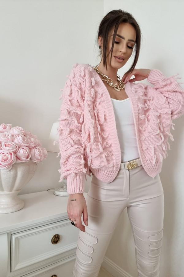 Sweterek pudrowy róż Adrie 1