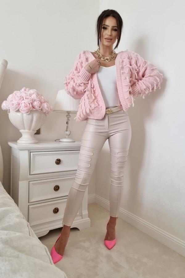 Sweterek pudrowy róż Adrie 2