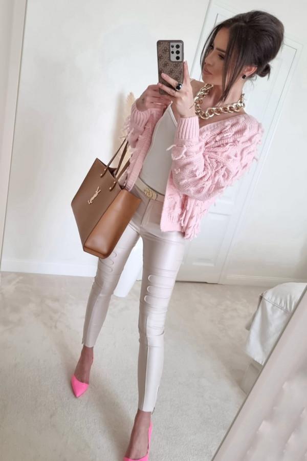 Sweterek pudrowy róż Adrie 3
