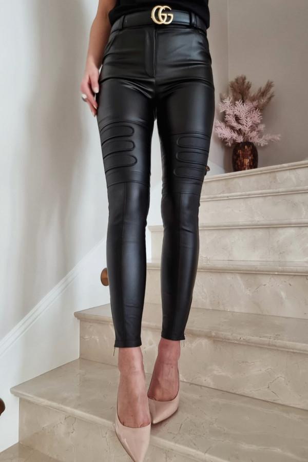 Spodnie woskowane Diesel czarne 1