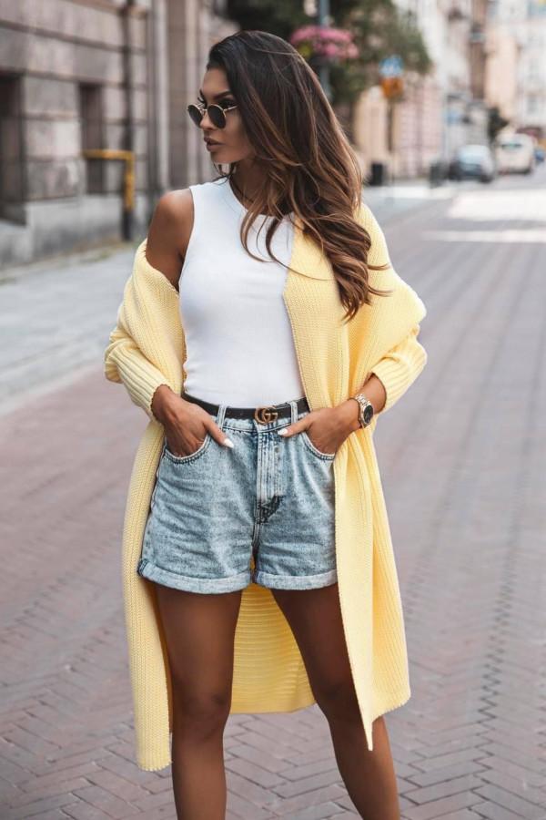 Kardigan żółty Anna
