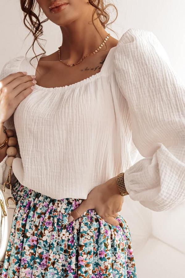 Biała bluzka z kokardką Lana 2
