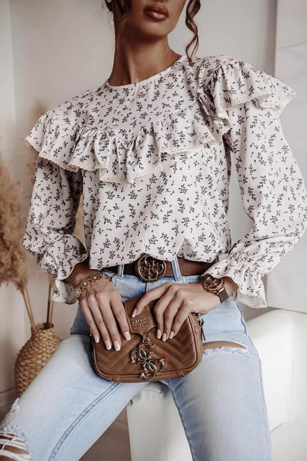 Bluzka biała z falbankami Anna
