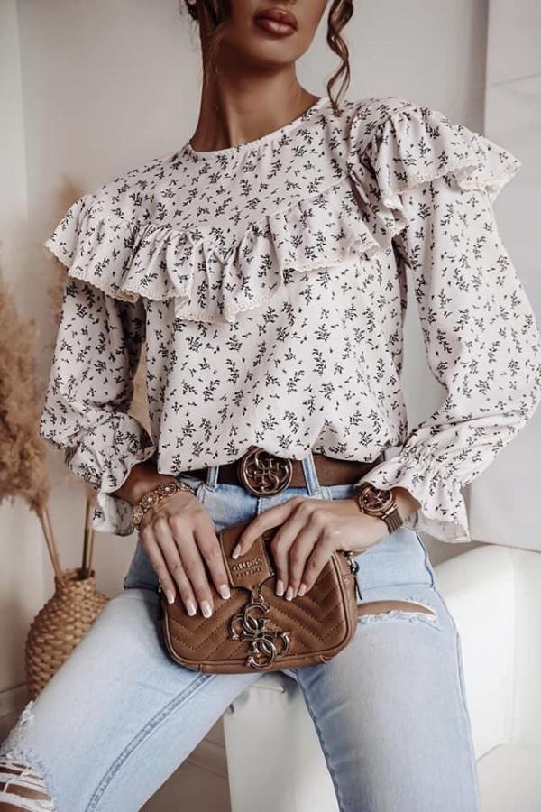 Bluzka biała z falbankami Anna 1