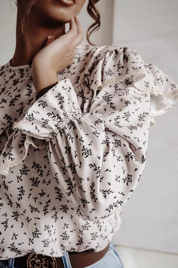 Bluzka biała z falbankami Anna 2