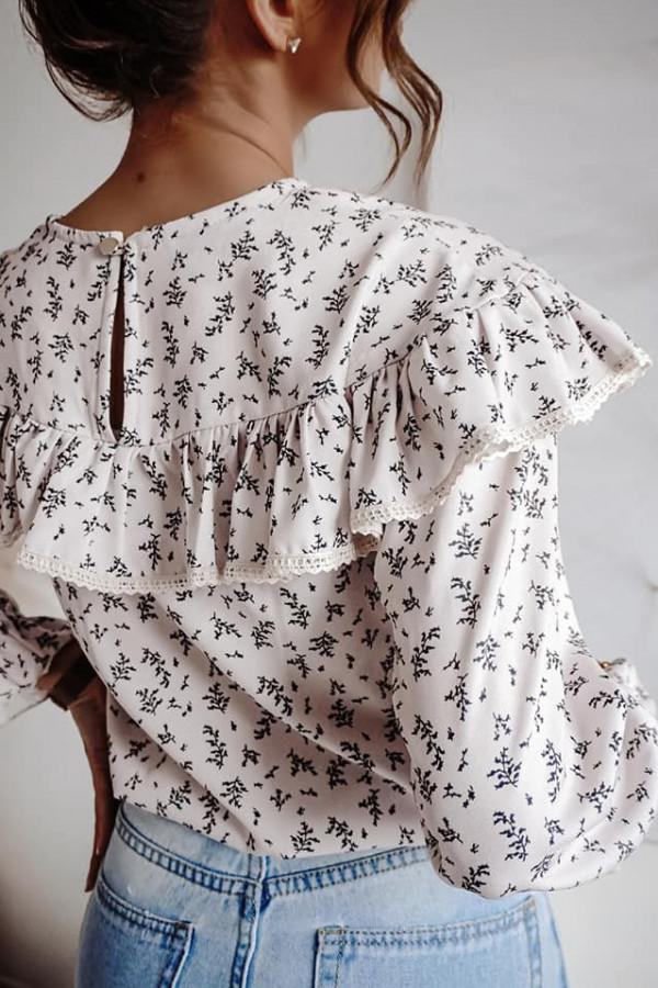 Bluzka biała z falbankami Anna 4