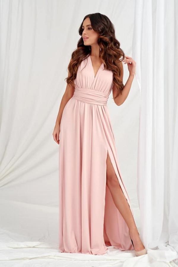 Sukienka Marina pudrowy róż