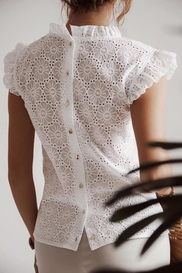 Bluzka ażurowa Wiolet biała