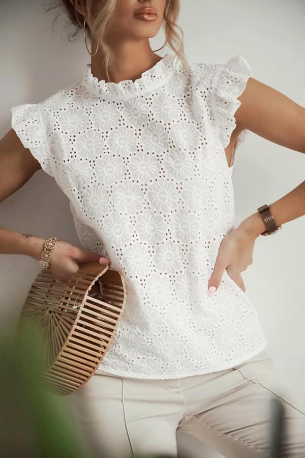 Bluzka ażurowa Wiolet biała 1