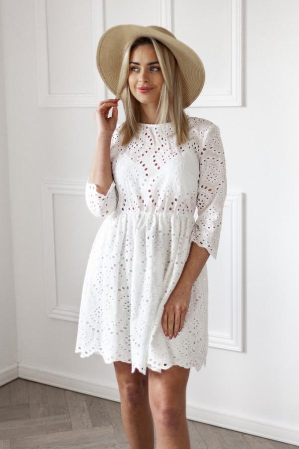 Sukienka ażurowa Nadia biała