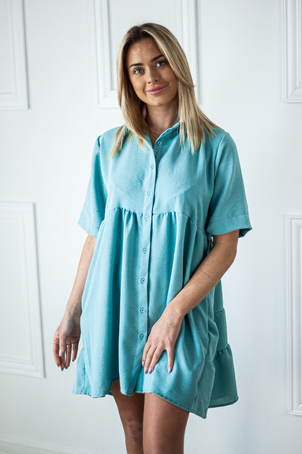 Sukienka niebieska zapinana Meggie 1