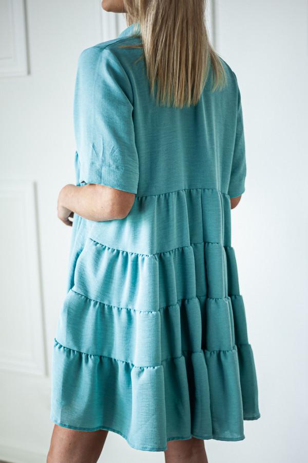 Sukienka niebieska zapinana Meggie 2