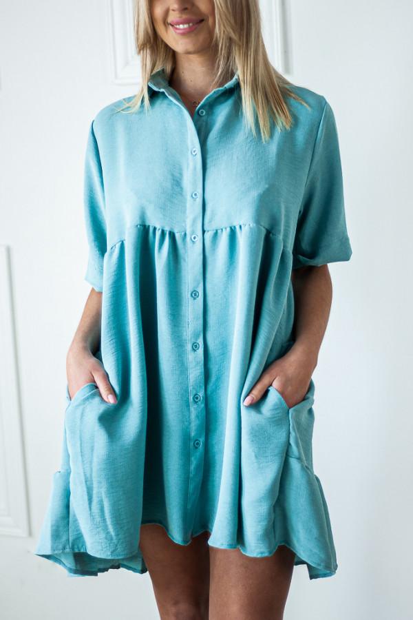 Sukienka niebieska zapinana Meggie 3
