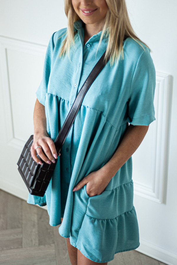 Sukienka niebieska zapinana Meggie 4