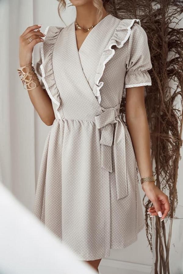 Sukienka wiązana w kropki