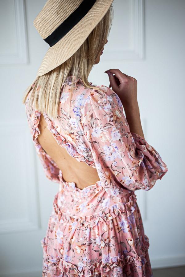 Sukienka w kwiaty Sophie różowa 5