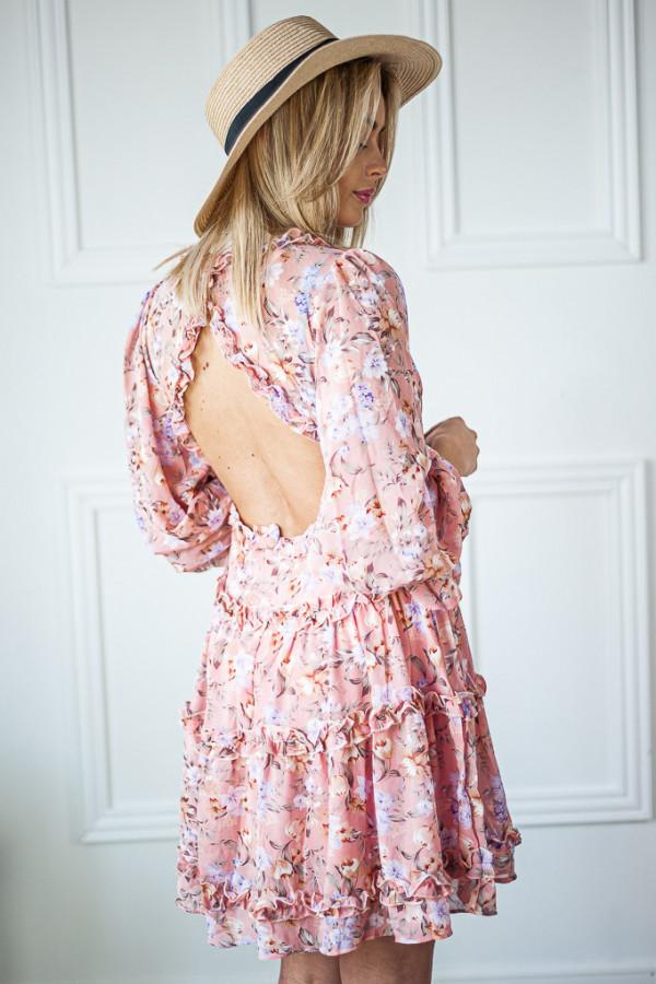 Sukienka w kwiaty Sophie różowa 6