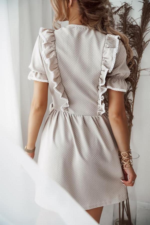 Sukienka wiązana w kropki 2