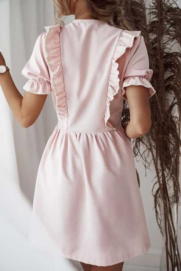 Sukienka wiązana różowa 2