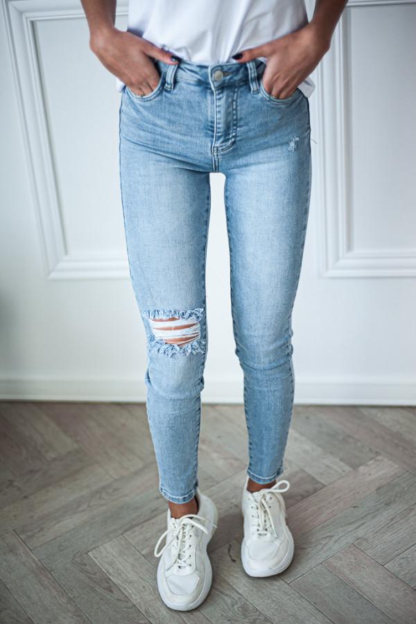 Spodnie jasne jeansowe Emma 3