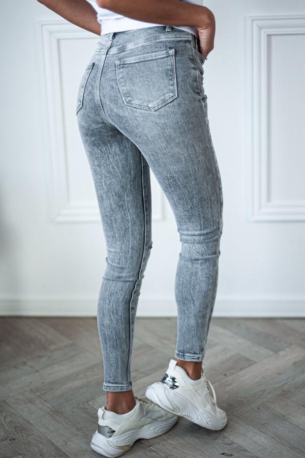Spodnie jeansowe ciemne z dziurami Judy 3