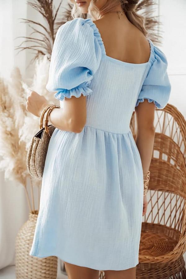Błękitna sukienka Kaja 1