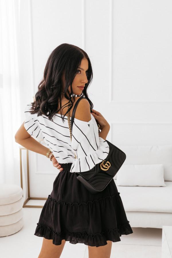 T-shirt biały w paski Katrine 9