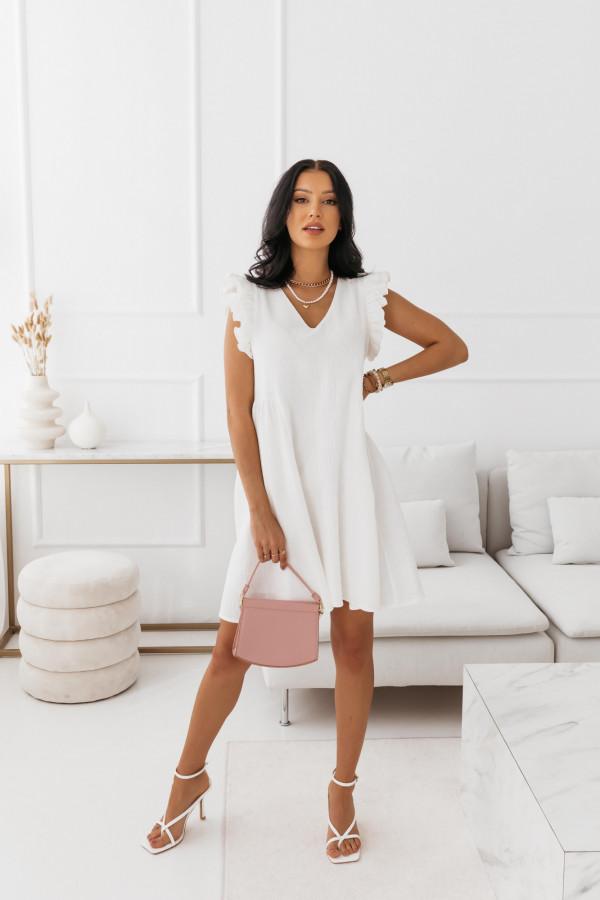 Biała muślinowa sukienka 1