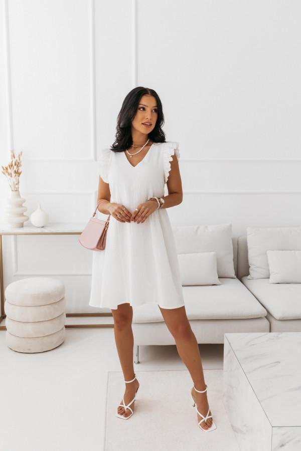 Biała muślinowa sukienka 2