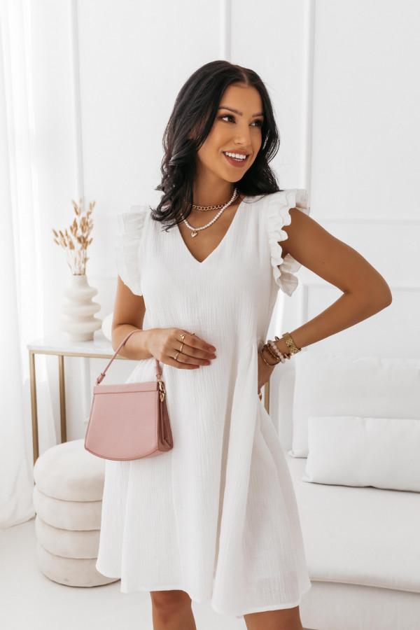 Biała muślinowa sukienka 3