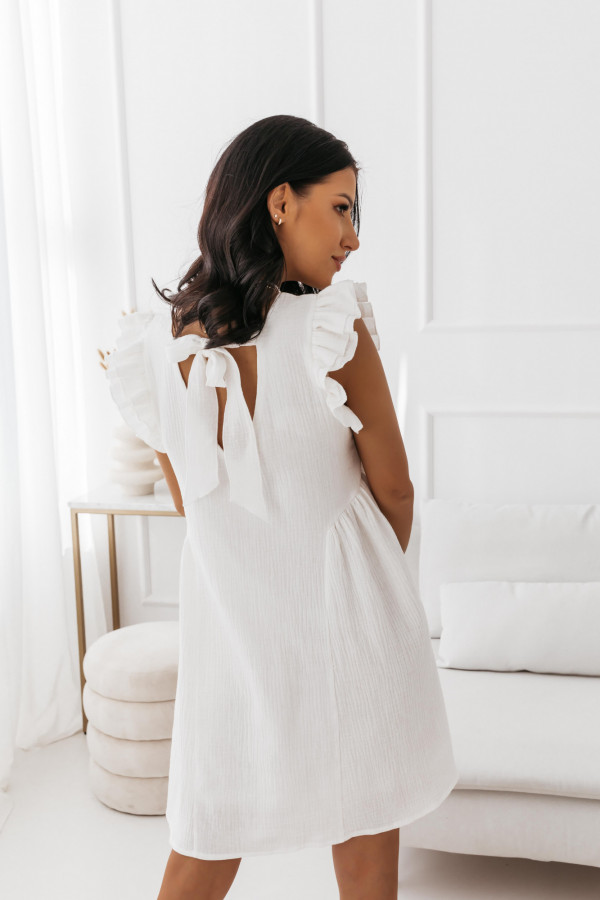 Biała muślinowa sukienka 4