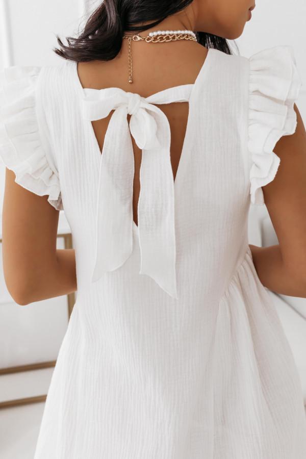 Biała muślinowa sukienka 5