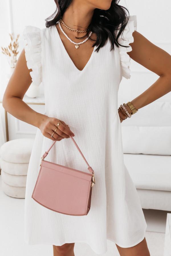 Biała muślinowa sukienka 6