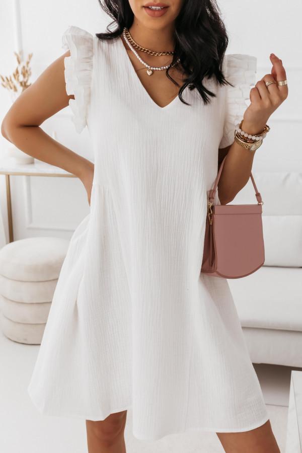 Biała muślinowa sukienka 7