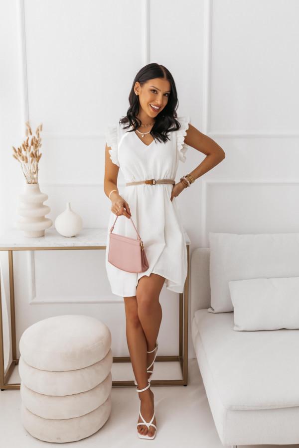 Biała muślinowa sukienka 8
