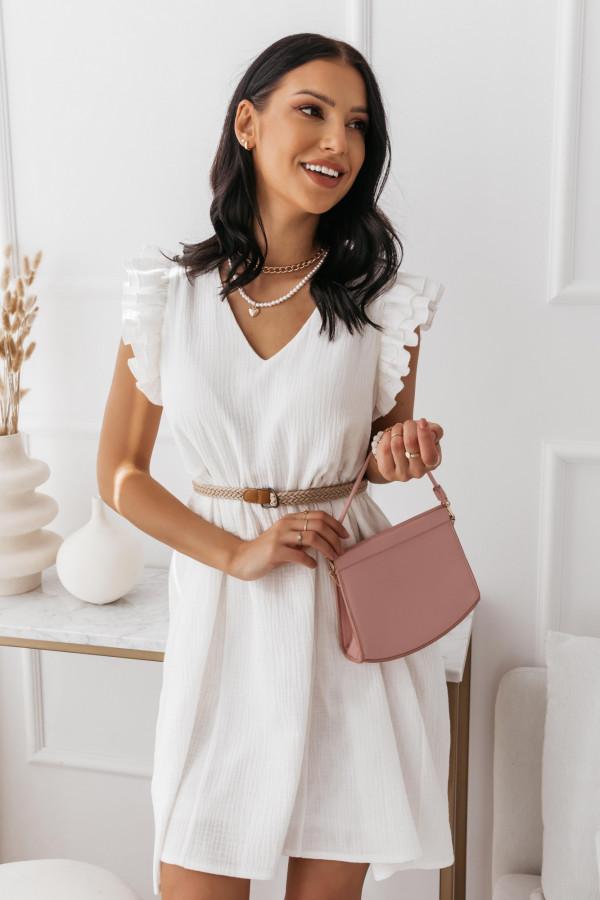 Biała muślinowa sukienka 9