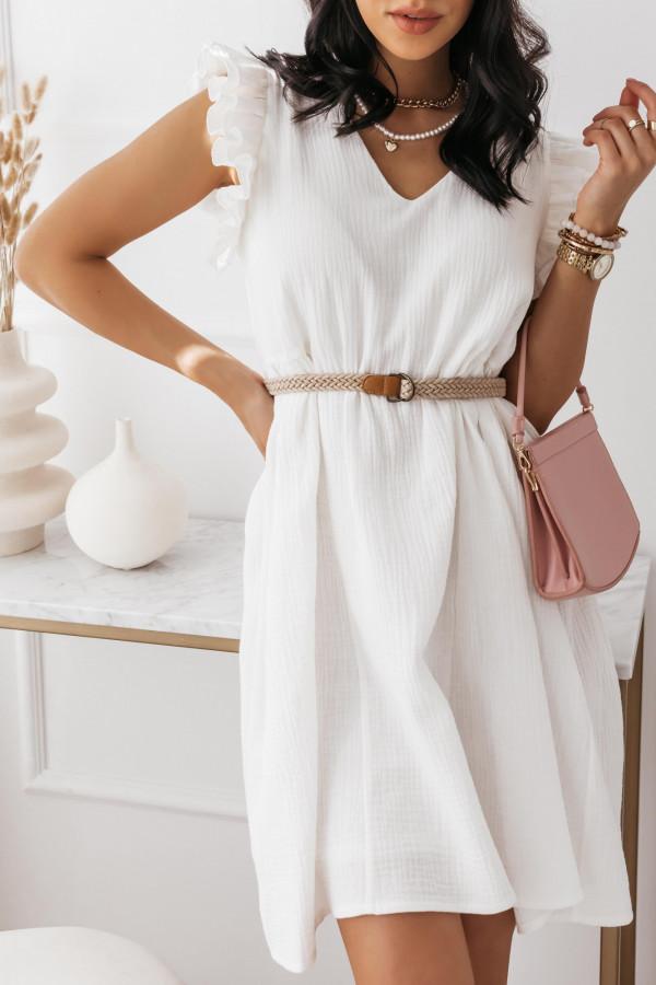 Biała muślinowa sukienka 10