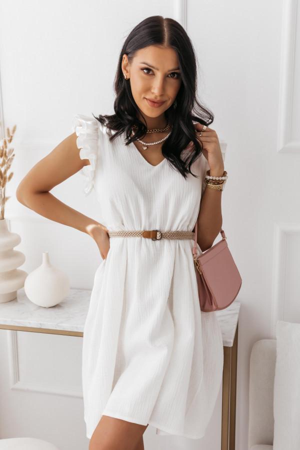 Biała muślinowa sukienka 11
