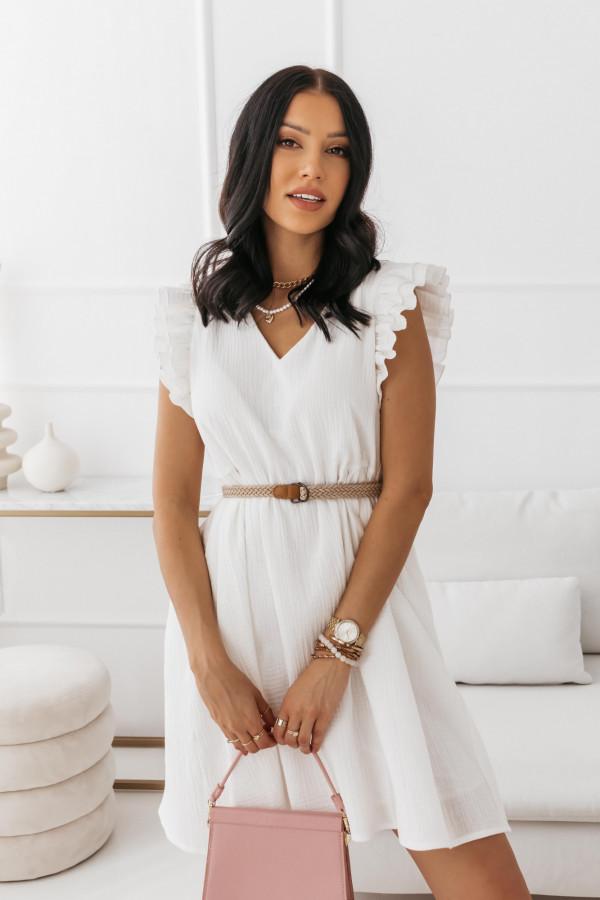 Biała muślinowa sukienka 14