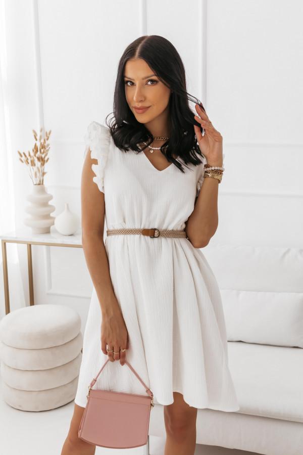 Biała muślinowa sukienka 15