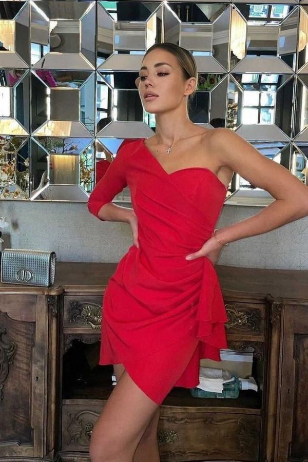 Sukienka Queeny - czerwony 1