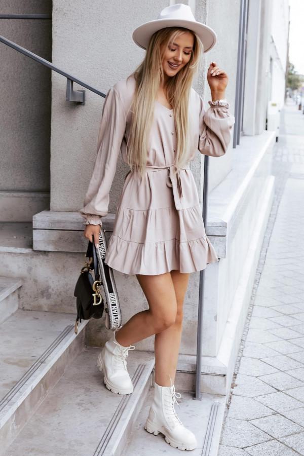 Sukienka Weronica beigie