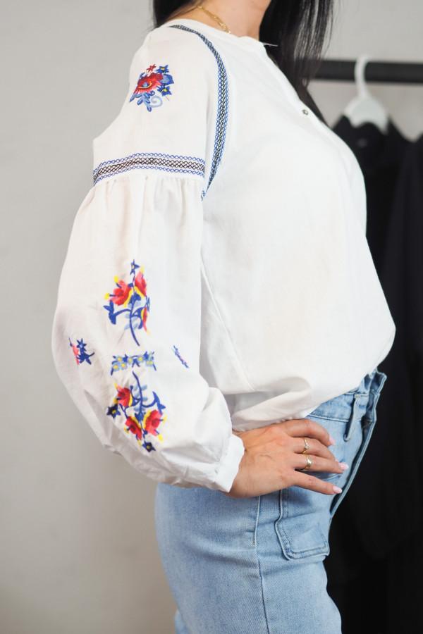Koszula biała we wzory Adelina