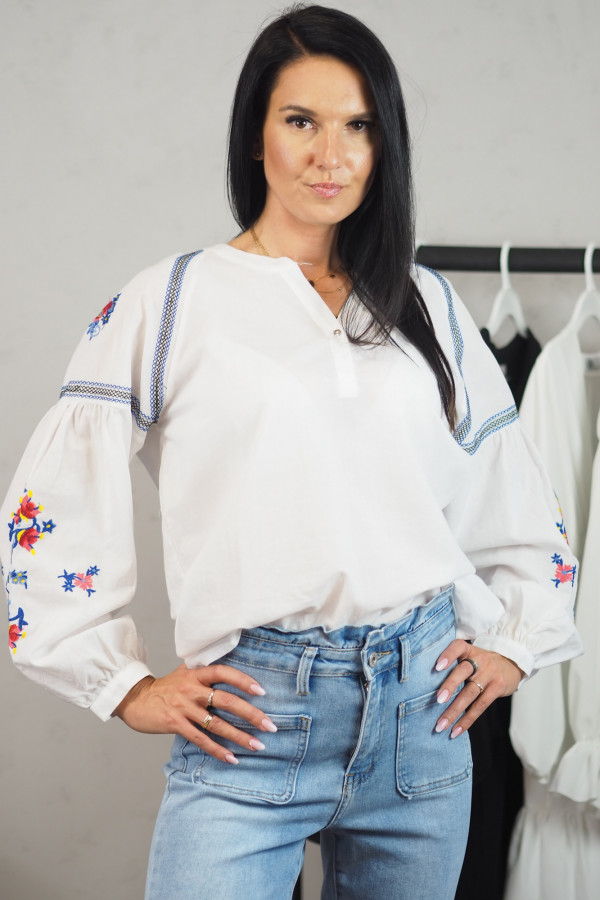 Koszula biała we wzory Adelina 2