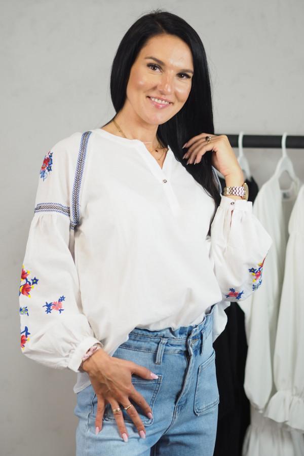 Koszula biała we wzory Adelina 3
