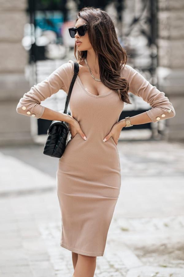 Sukienka ANET beżowa