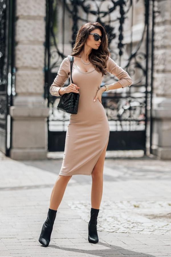 Sukienka ANET beżowa 1
